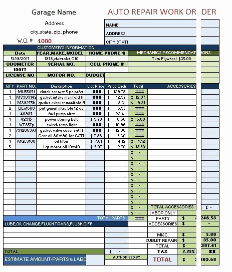 9 Free Sample Auto Repair Quotation Templates Printable