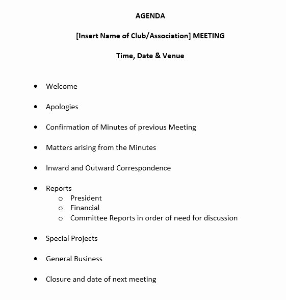 9 Free Sample Basic Meeting Agenda Templates Printable