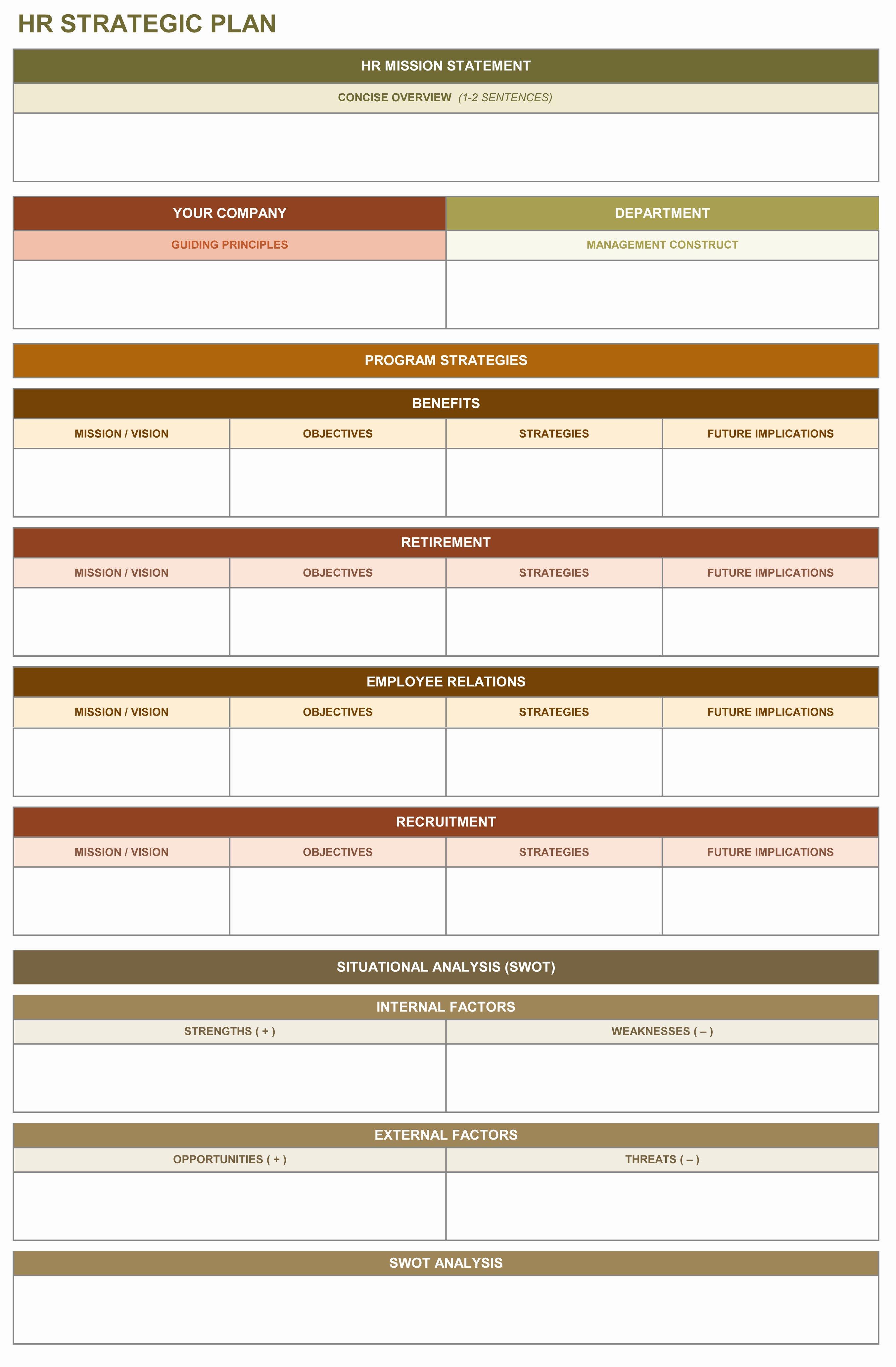 9 Free Strategic Planning Templates Smartsheet
