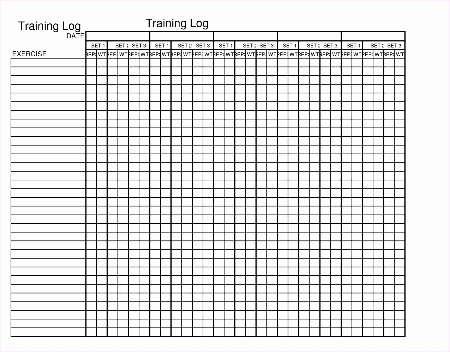 9 Free Training Matrix Template Excel Exceltemplates
