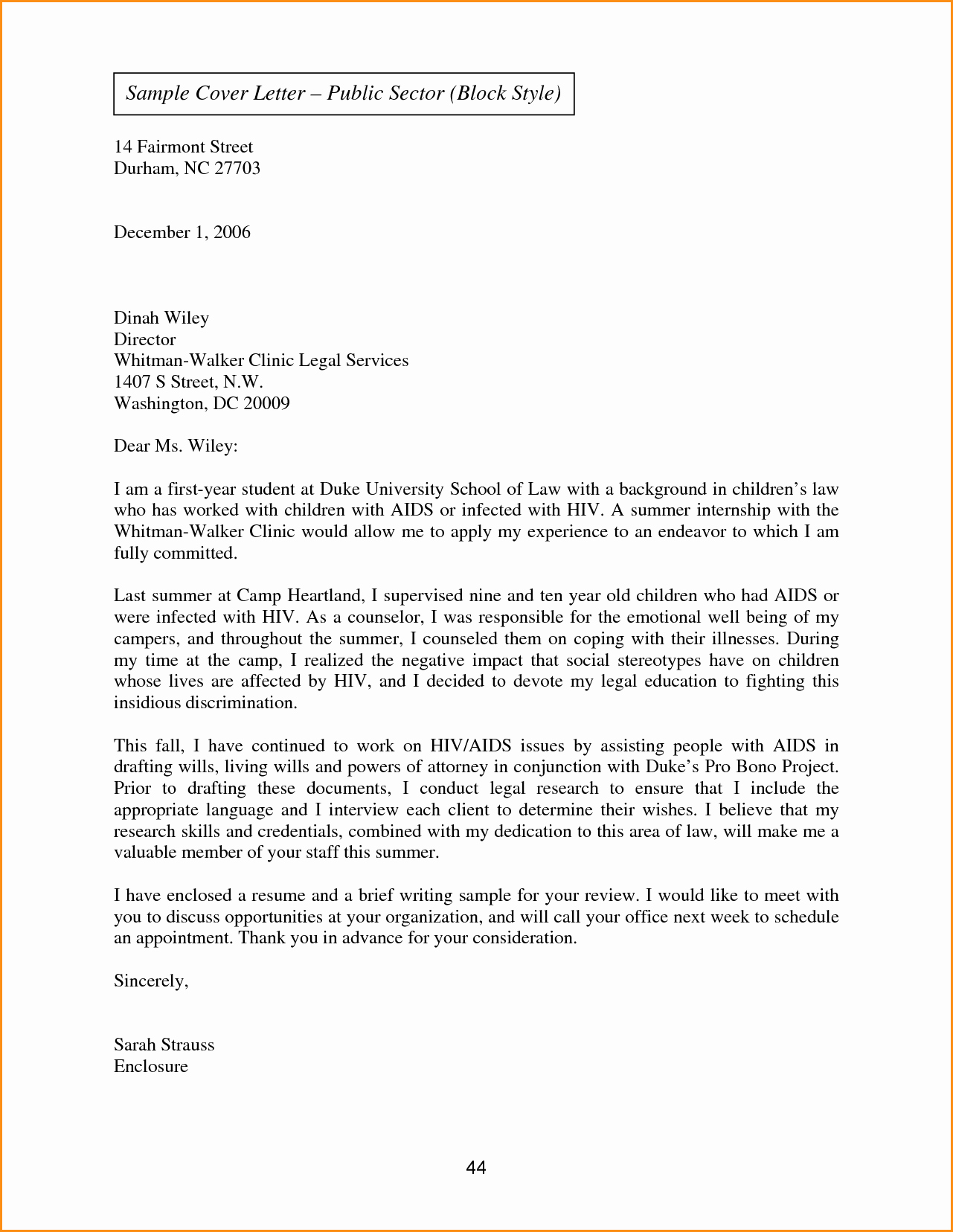 9 Full Block Business Letter Sample