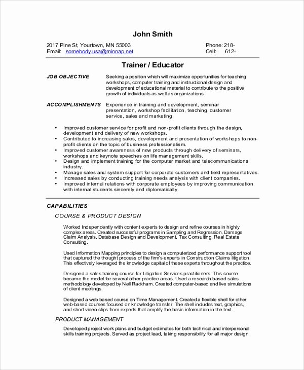 9 Functional Resume Samples Pdf Doc Latter Example Template