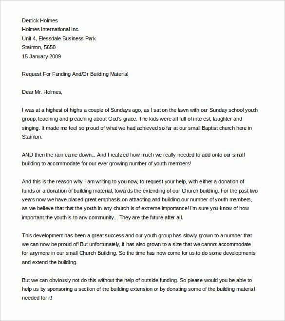 9 Fundraising Letter Templates Free Sample Example