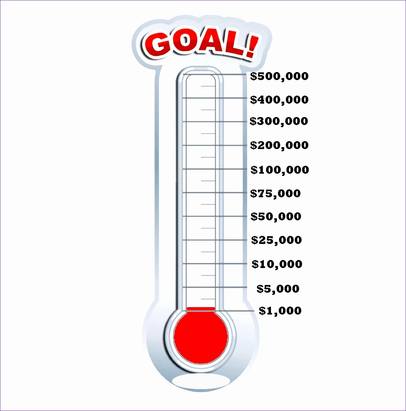 9 Fundraising thermometer Template Excel Exceltemplates