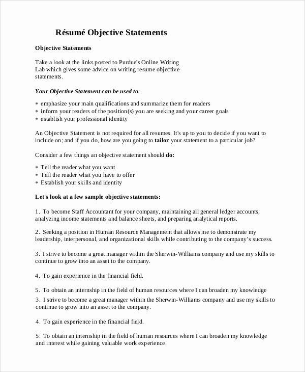 9 General Resume Objective Samples