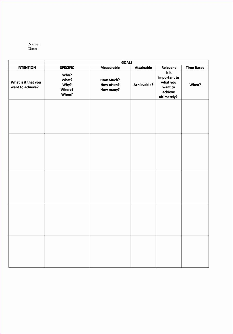 9 Goal Setting Excel Template Exceltemplates