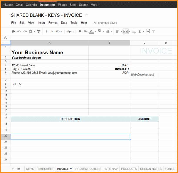 9 Google Docs Invoice Template