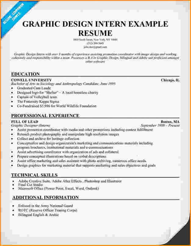 9 Graphic Design Resume Sample