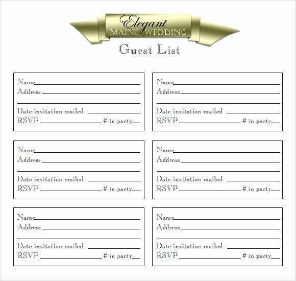 9 Guest List Samples