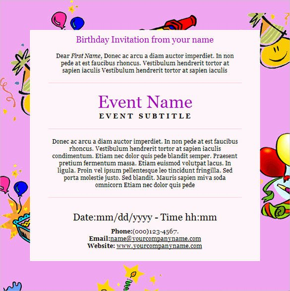 9 Happy Birthday Email Templates HTML Psd