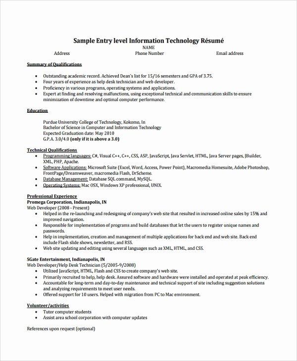 9 Help Desk Technician Resume Templates