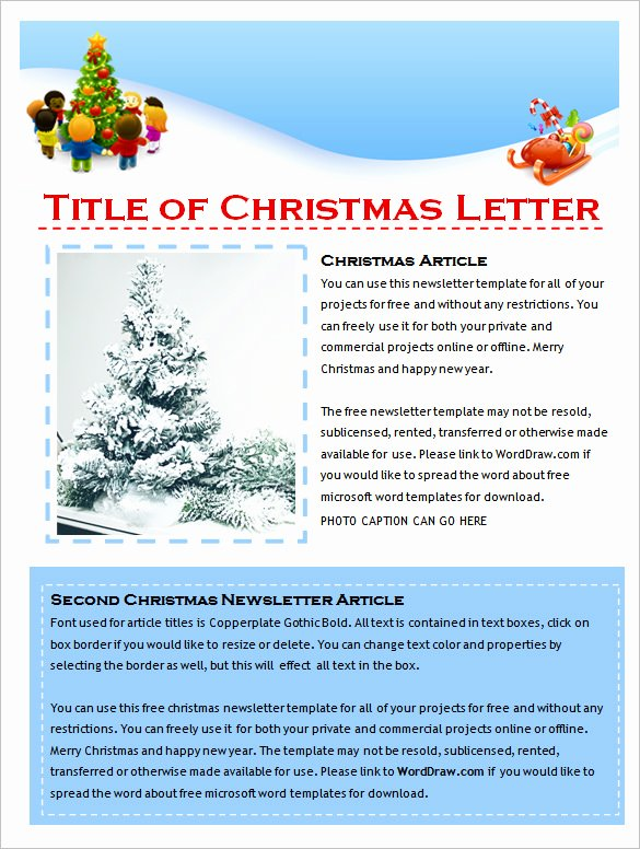 9 Holiday Newsletter Templates – Free Word Documents