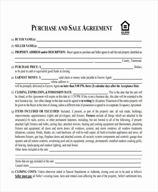 9 House Sales Contracts Samples & Templates