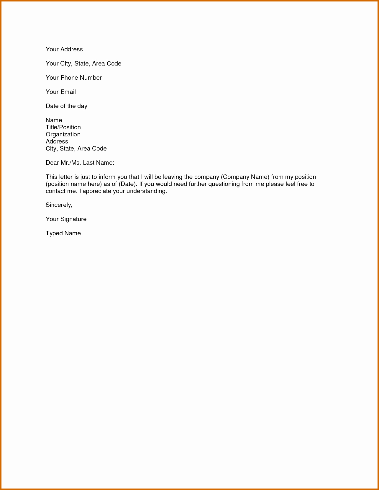 9 How to Make A Simple Resignation Letter