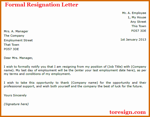 9 How to Write A formal Resignation Letter