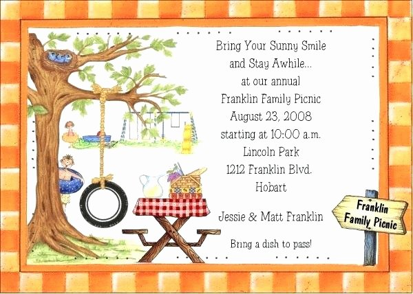 9 Inspirational Free Downloadable Picnic Invitation