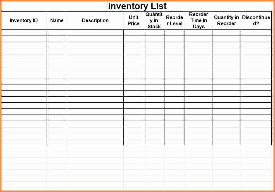 9 Inventory Spreadsheet Template