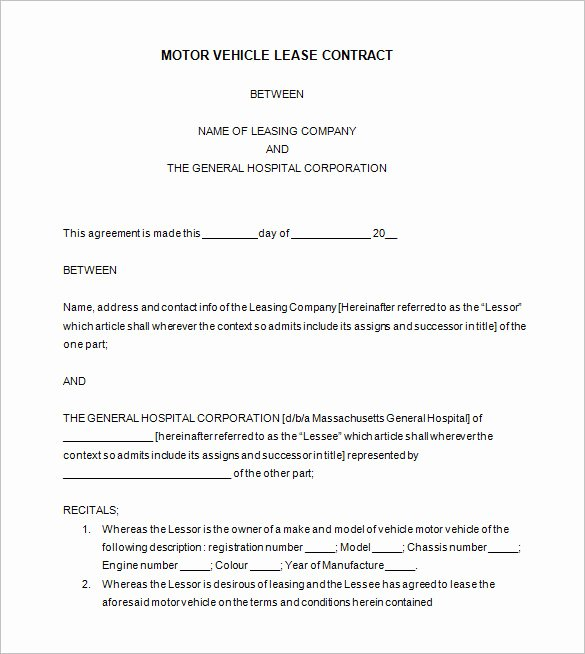 9 Lease Contract Templates – Free Word Pdf Documents