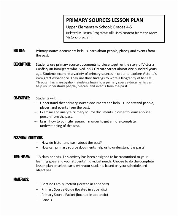 9 Lesson Plan Examples