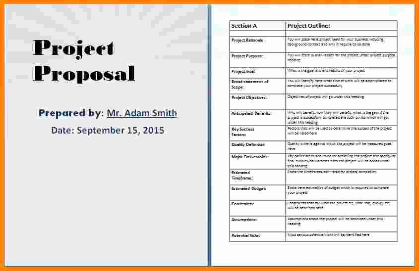 9 Microsoft Word Project Proposal Template