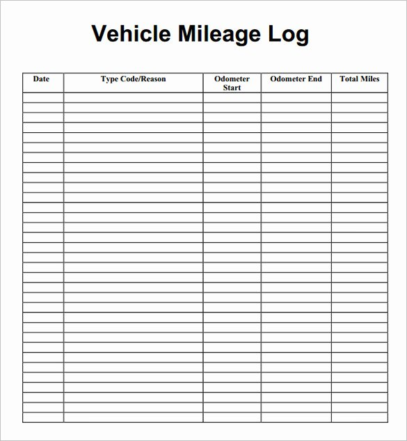 9 Mileage Log Templates Doc Pdf