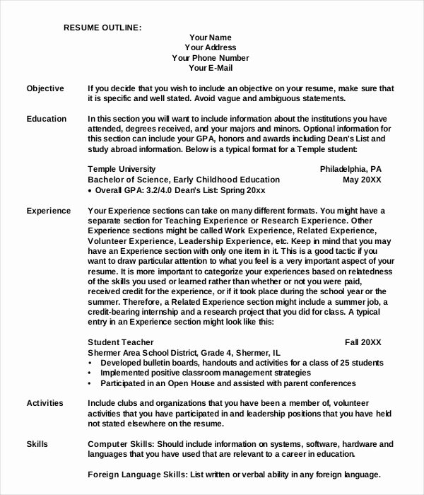9 Outline Examples Download In Word Pdf