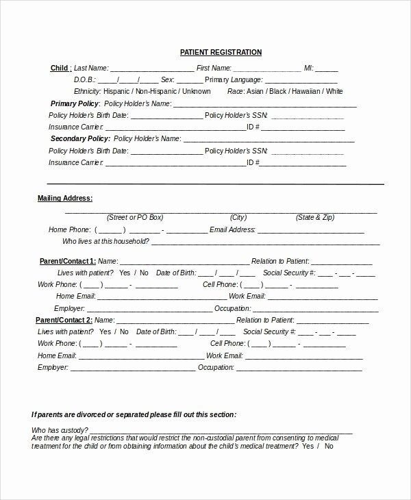 9 Patient Registration form Templates
