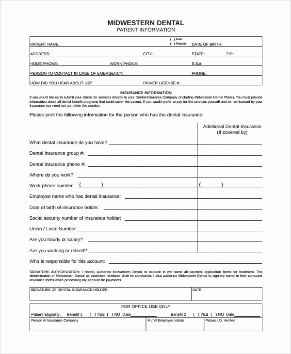 9 Patient Registration form Templates