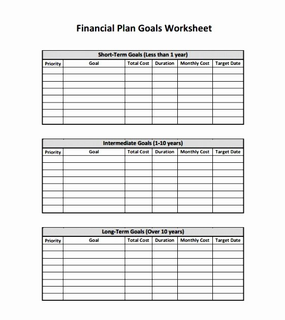 9 Personal Financial Planning Template Opweu