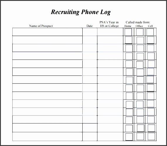 9 Phone Log for Free Sampletemplatess Sampletemplatess