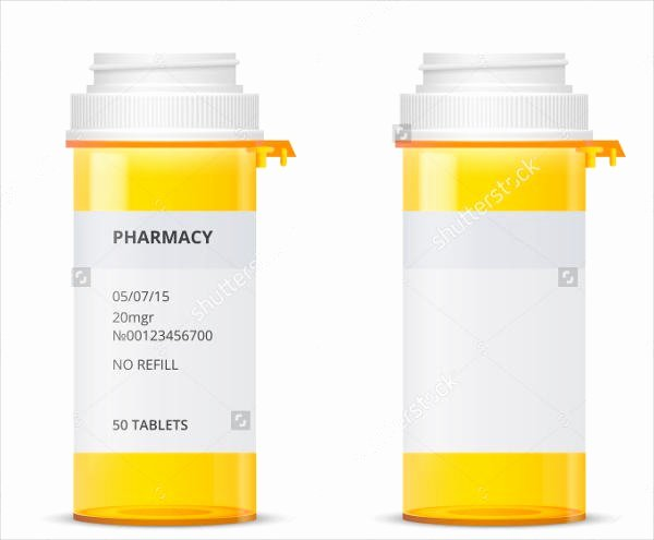 9 Pill Bottle Label Templates Design Templates