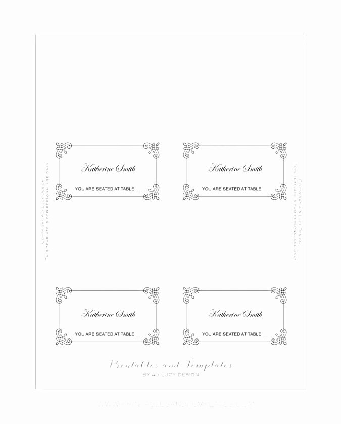 9 Place Card Template Word 6 Per Sheet Puiwy