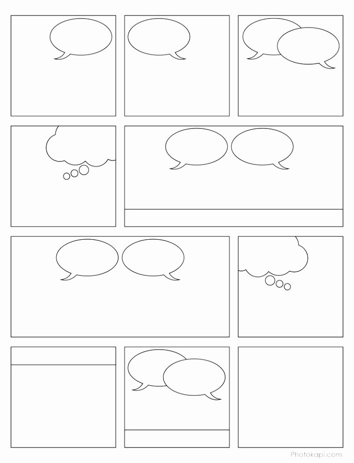 9 Printable Blank Ic Strip Template for Kids Iowui