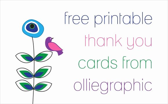 9 Printable Thank You Card Templates Free Sample