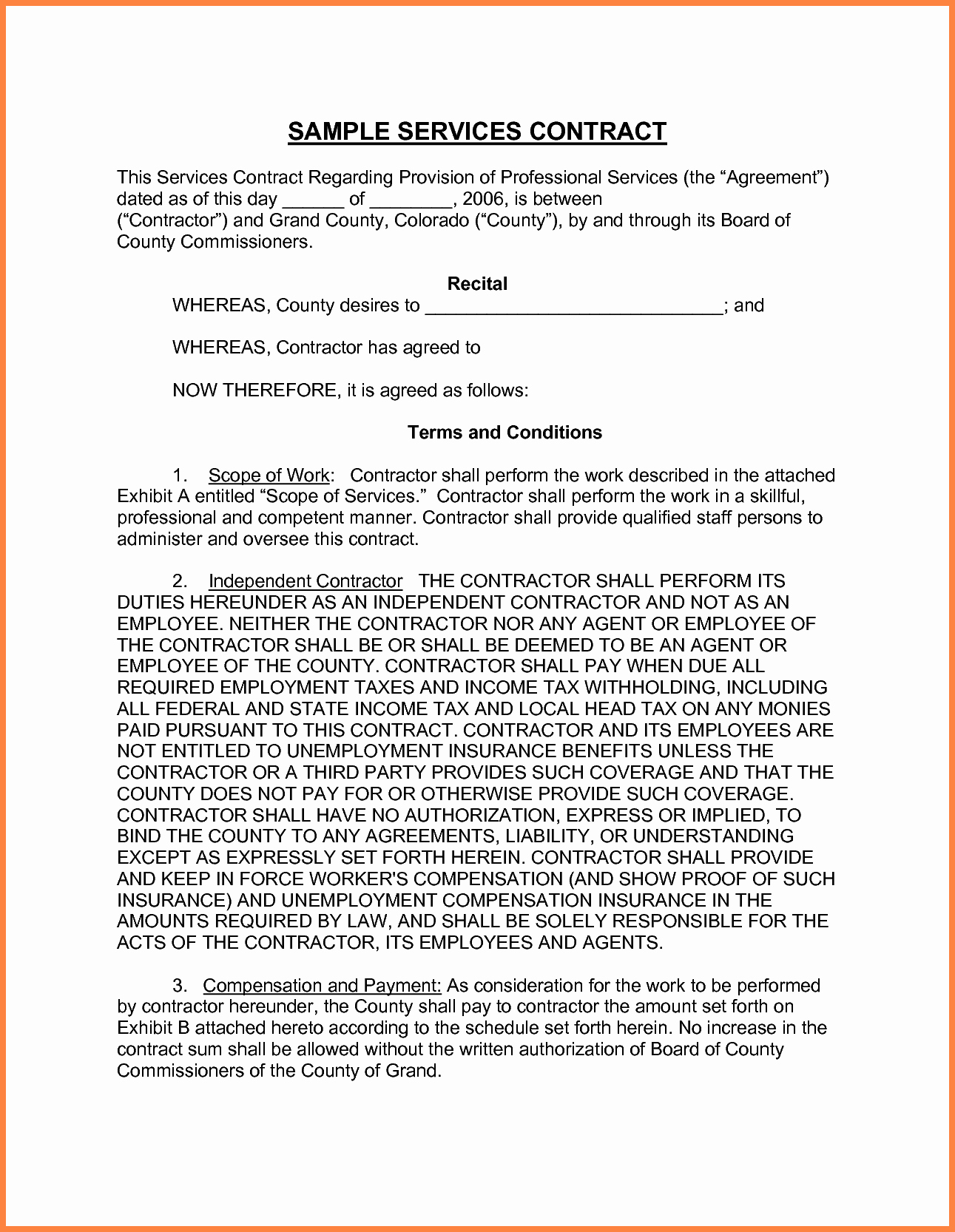 9 Professional Service Agreement Template