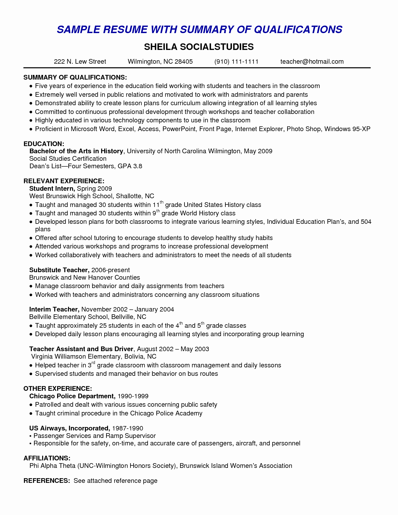 9 Professional Summary Examples Samplebusinessresume