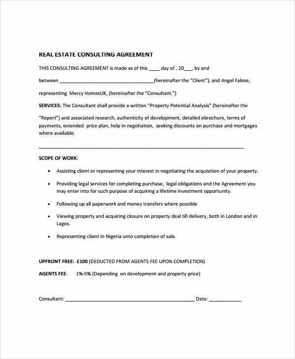 9 Real Estate Consulting Agreement Templates