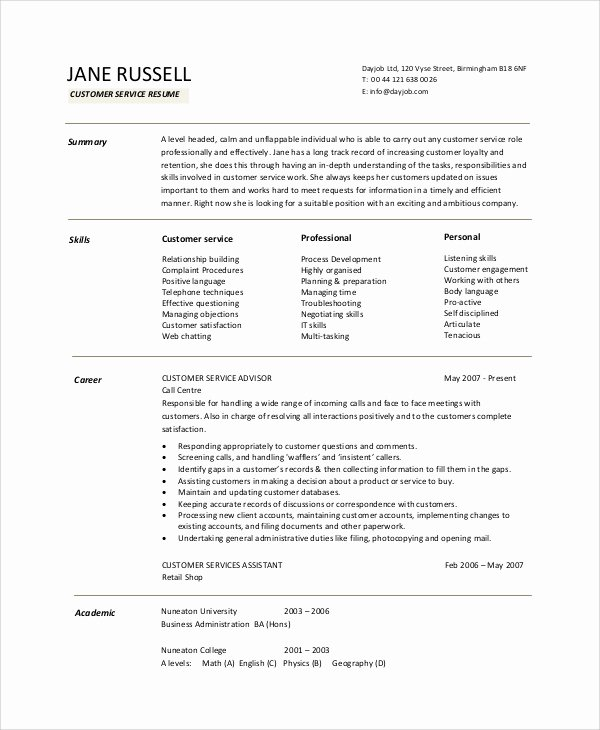 9 Resume Objective Samples – Pdf Word