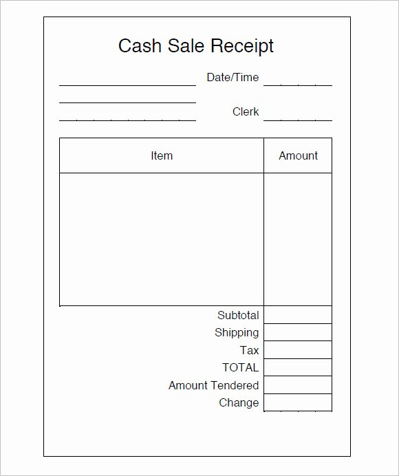 9 Sales Receipt Templates – Free Samples Examples