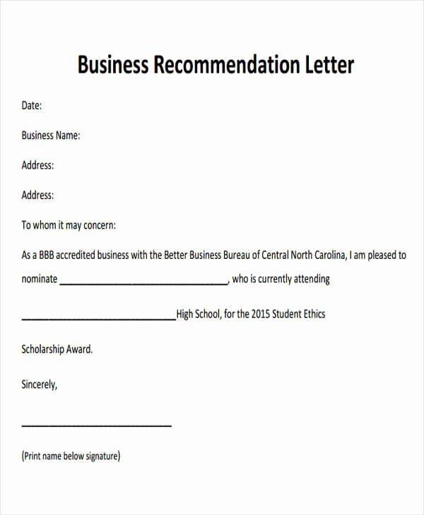 9 Sample Business Re Mendation Letters