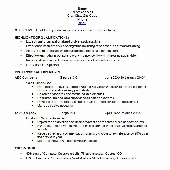 9 Sample Chronological Resume Templates to Download