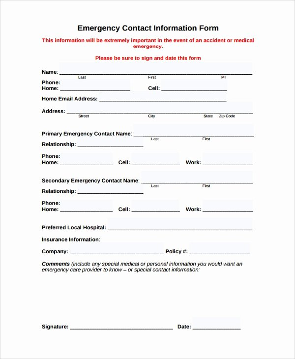 9 Sample Contact forms