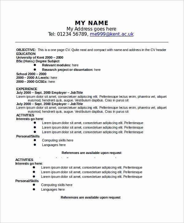 9 Sample E Page Resumes