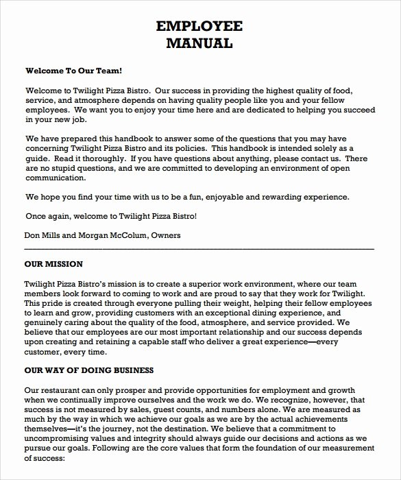 9 Sample Employee Manual Templates
