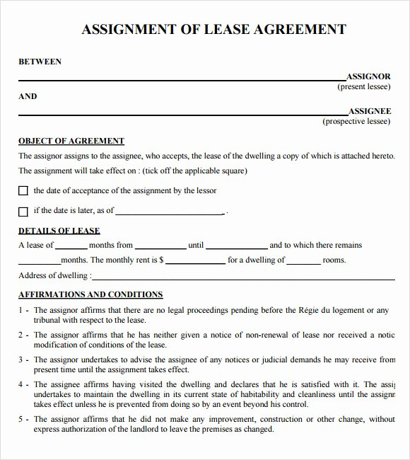 9 Sample Lease Agreements