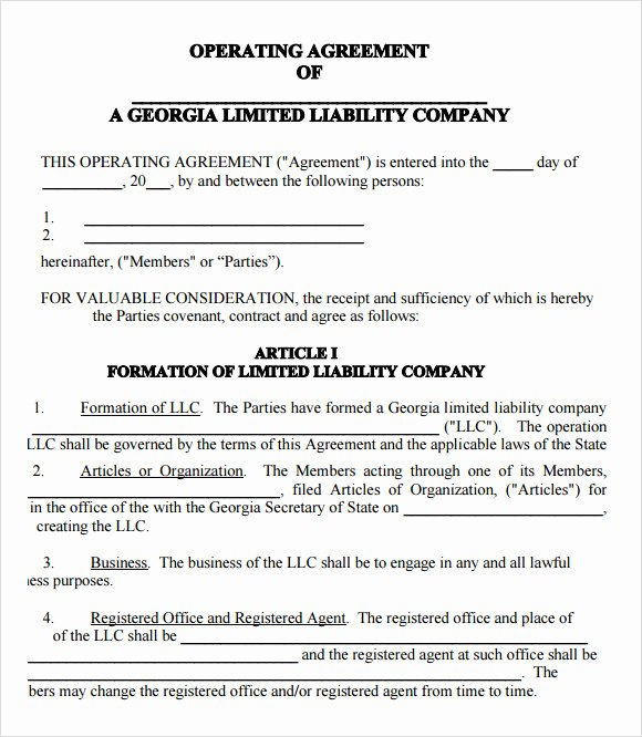9 Sample Llc Operating Agreement Templates to Download