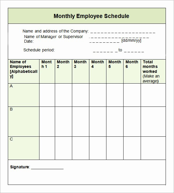 9 Sample Monthly Schedule Templates to Download