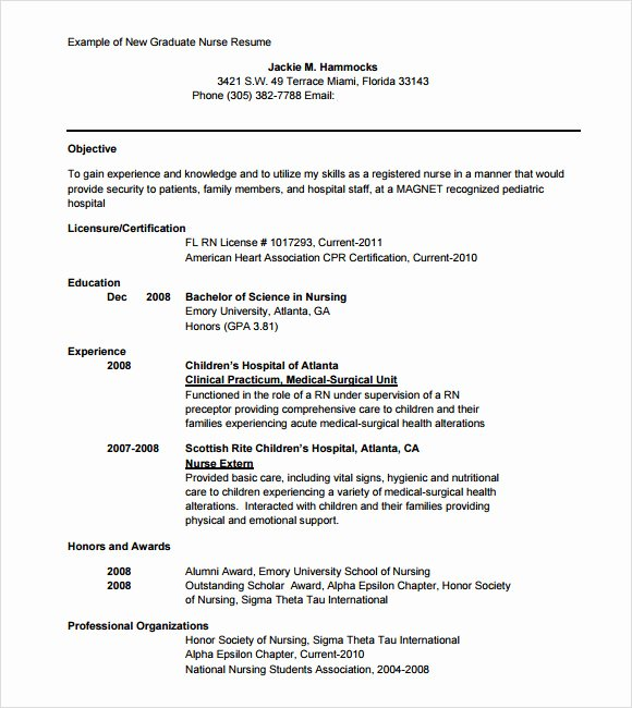 9 Sample Nursing Resumes