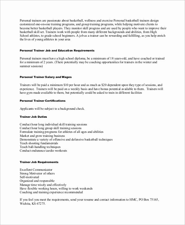 9 Sample Personal Trainer Resumes