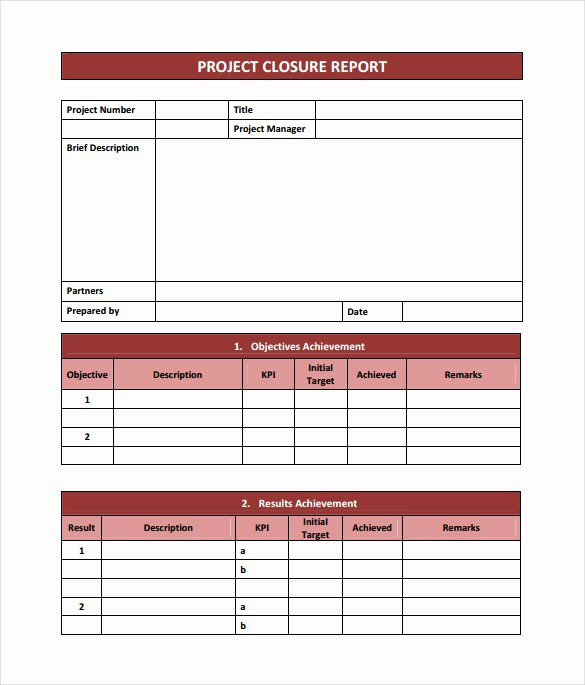 9 Sample Project Closure Report Template Examples